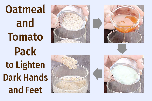 oatmeal and tomato mask to lighten dark hands and feet