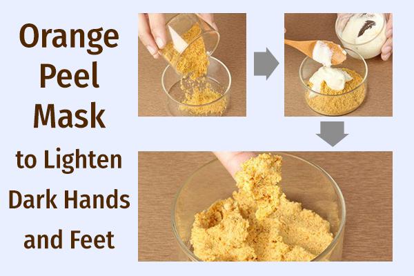 orange peel mask can help brighten dark skin