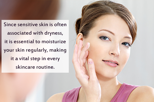 moisturize your skin regularly to prevent dryness