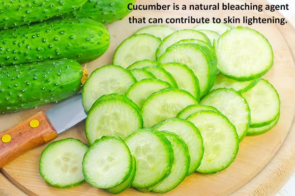 cucumber is a natural bleaching agent and helps lighten skin