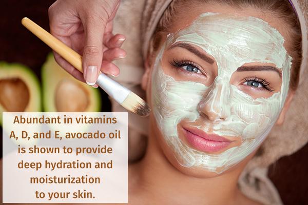 avocado has skin moisturizing properties