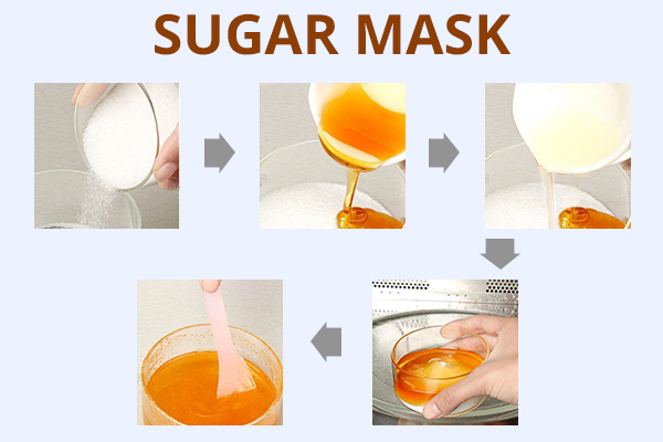 how to prepare and use a sugar mask for removing unwanted hair