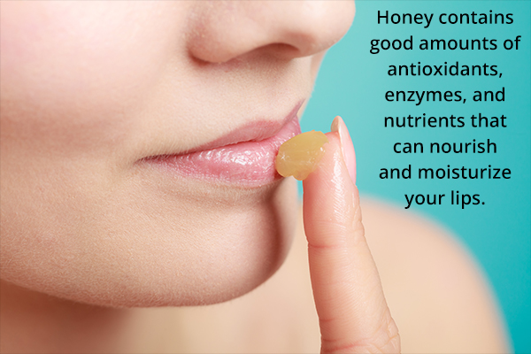 honey can help moisturize chapped lips