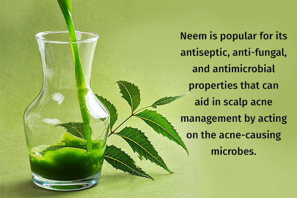 a neem rinse can help treat acne