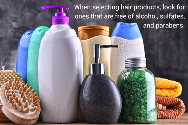 excessive use of chemical products can damage your hair