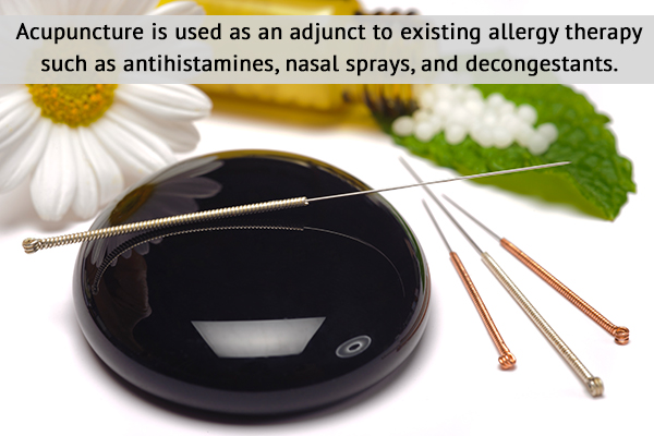 acupuncture can be used as an adjunct to allergy therapy