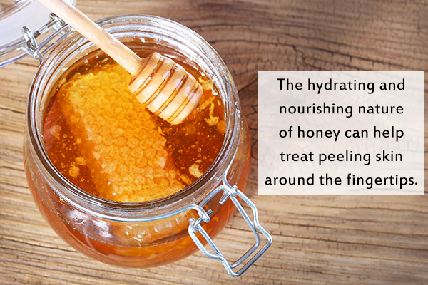 honey can help hydrate and treat skin peeling