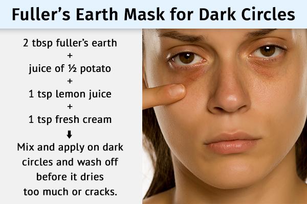 fuller's earth can help fade dark circles