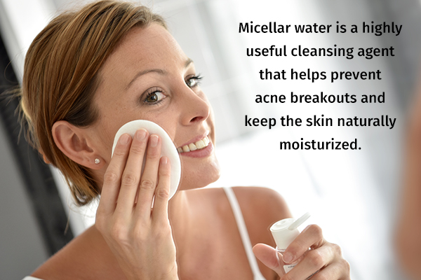 micellar water can help cleanse and moisturize your skin