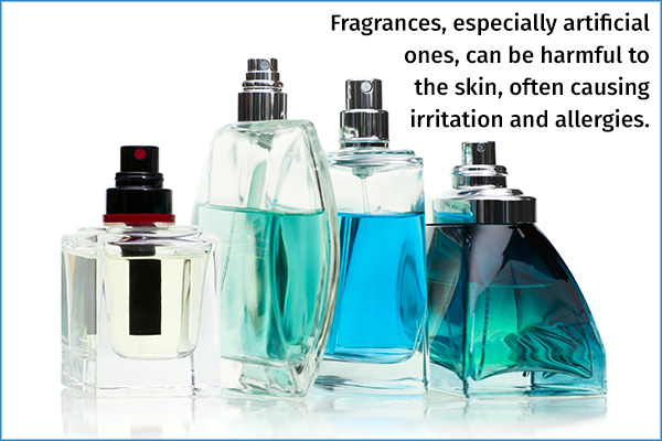 artificial fragrances can be harmful to the skin