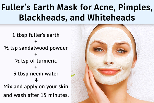 fuller's earth can help manage acne, pimples, and blackheads