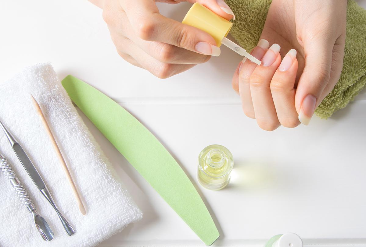 get rid of yellow nails