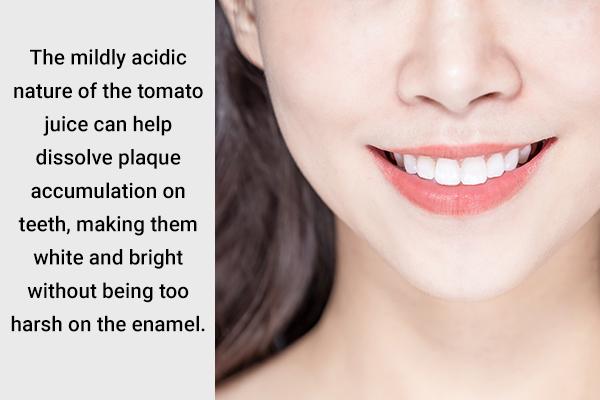 tomato juice can help dissolve dental plaque