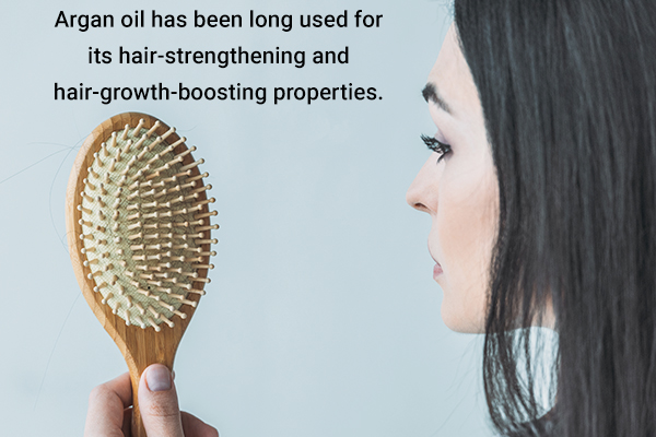 argan oil can be used for hair growth and strengthening