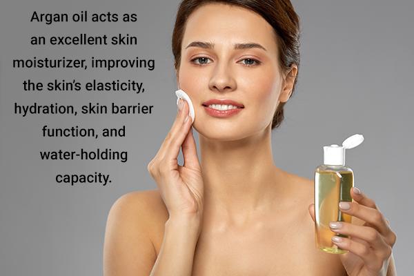 argan oil acts as an excellent skin moisturizer