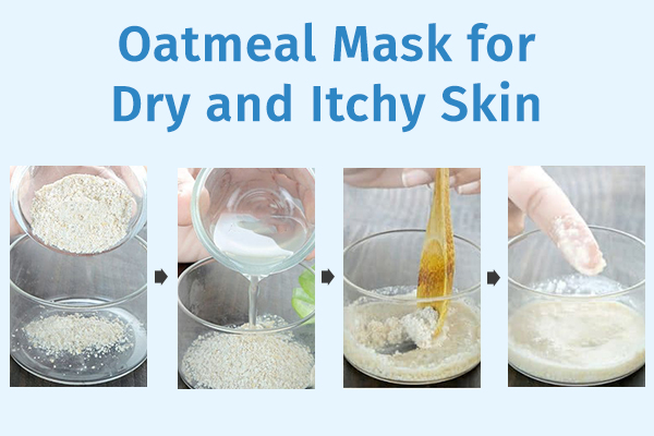oatmeal mask for dry and itchy skin