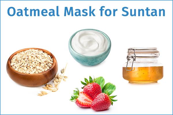 oatmeal face mask for suntan