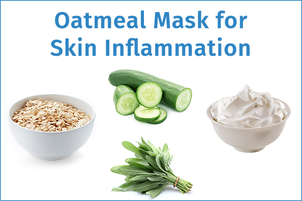 oatmeal mask for curbing skin inflammation