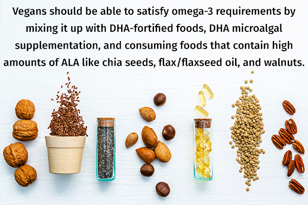 vegans should fulfill their omega-3 fatty acids requirements