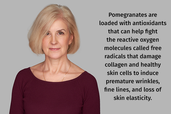 pomegranates are shown to help delay signs of aging
