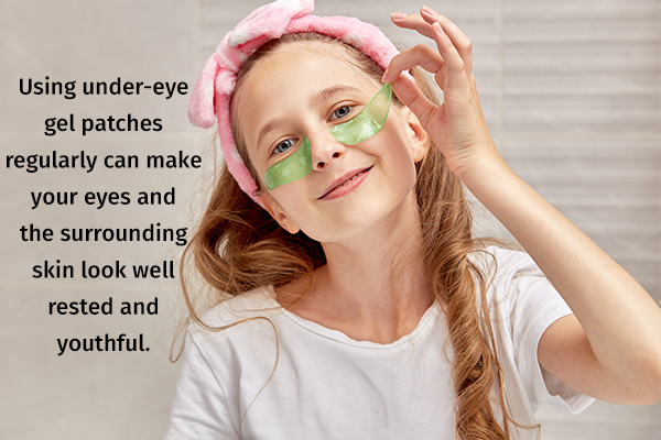 gel patches can help hydrate under-eye skins