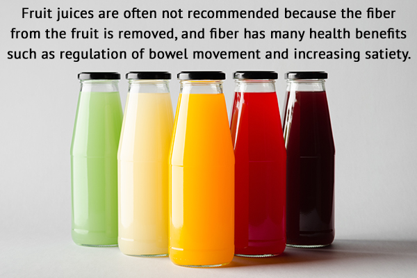 fruit juices are often not recommended for children