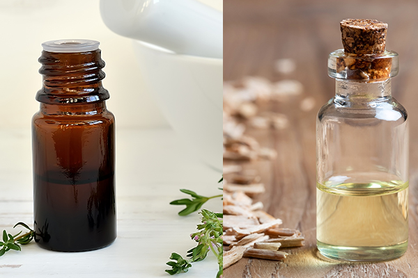 thyme and cedarwood essential oils can help boost hair growth