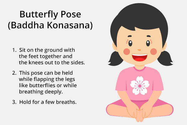 butterfly pose (baddha konasana) for kids