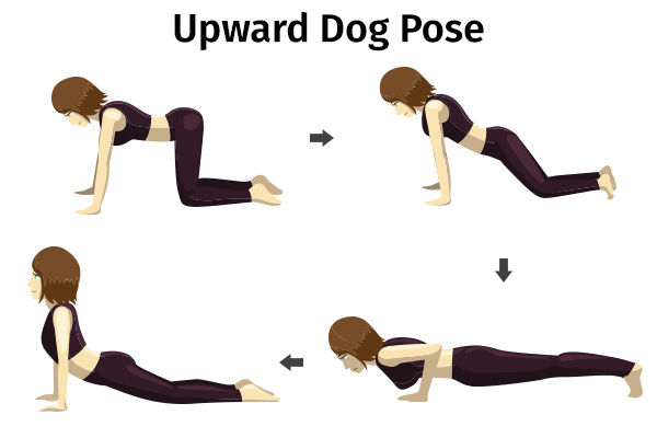 upward dog pose for better digestion