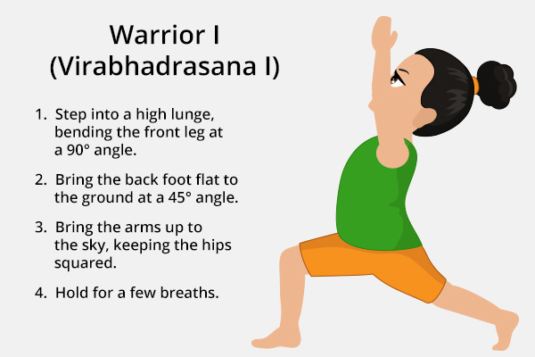 warrior I (virabhadrasana I) for kids
