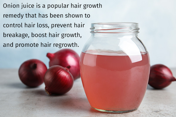 onion juice is a popular hair growth remedy