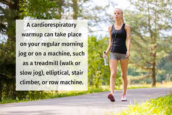 a general cardiorespiratory warmup can help