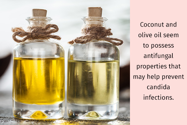 coconut and olive oil possess anti-fungal properties
