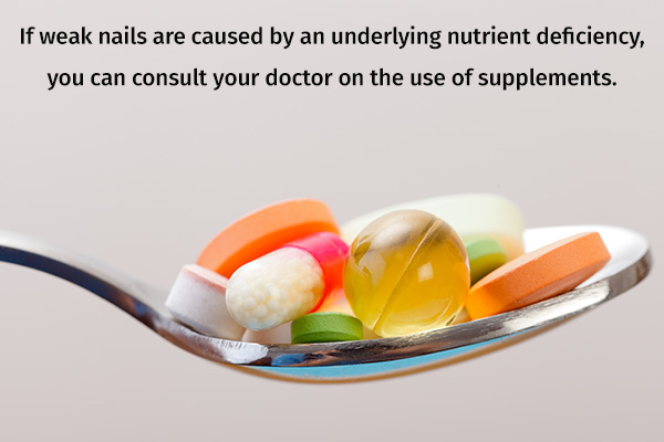 weak nails can be treated with supplements