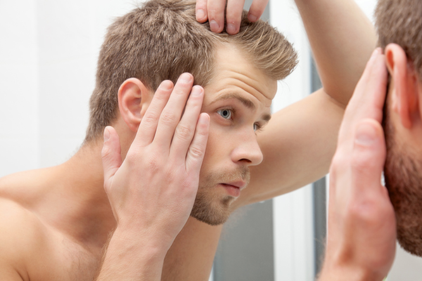you can use hair fibers to conceal balding spots