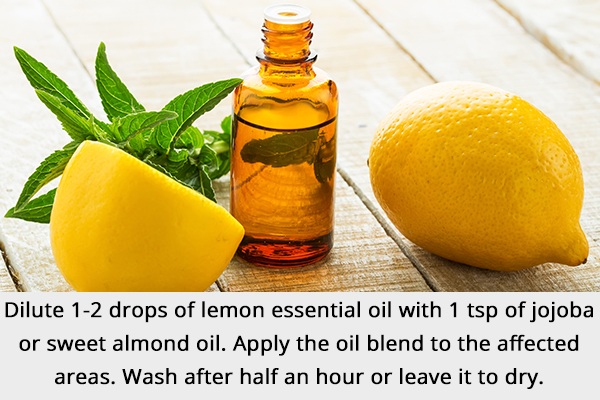 dab on some lemon essential oil on affected area