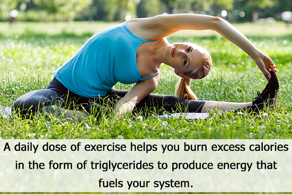regular exercising can help reduce triglycerides