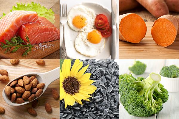 salmon, eggs, sweet potato, almonds etc. are good for hair