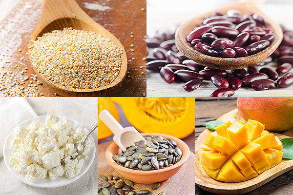 quinoa, kidney beans, cottage cheese, etc. are good for hair