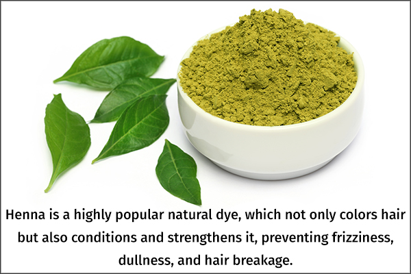 henna is a popular natural hair dye