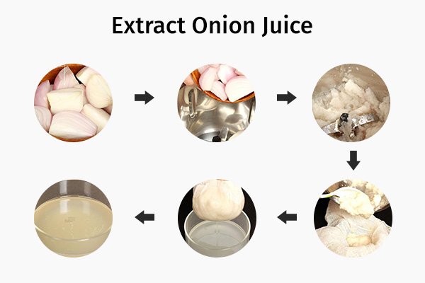 how to extract onion juice easily?