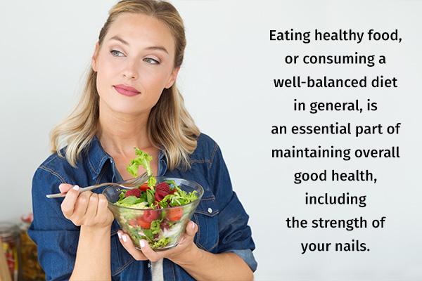 eating a balanced diet can boost nail health