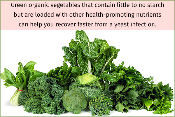nonstarchy vegetables can help recover faster from yeast infections