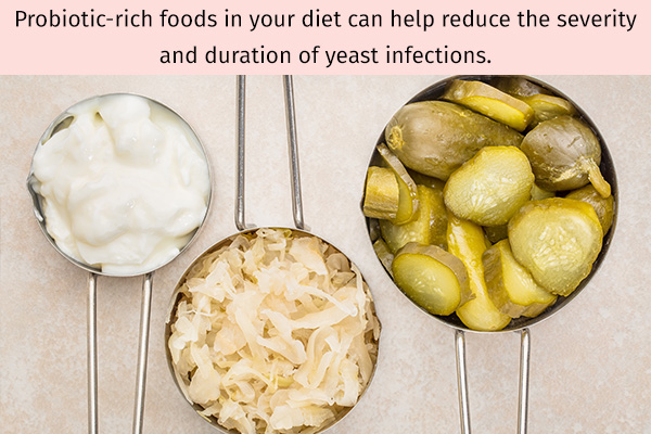 probiotic-rich foods can help prevent yeast infections