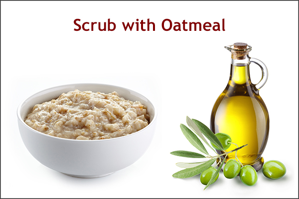scrubbing your face with oatmeal can help