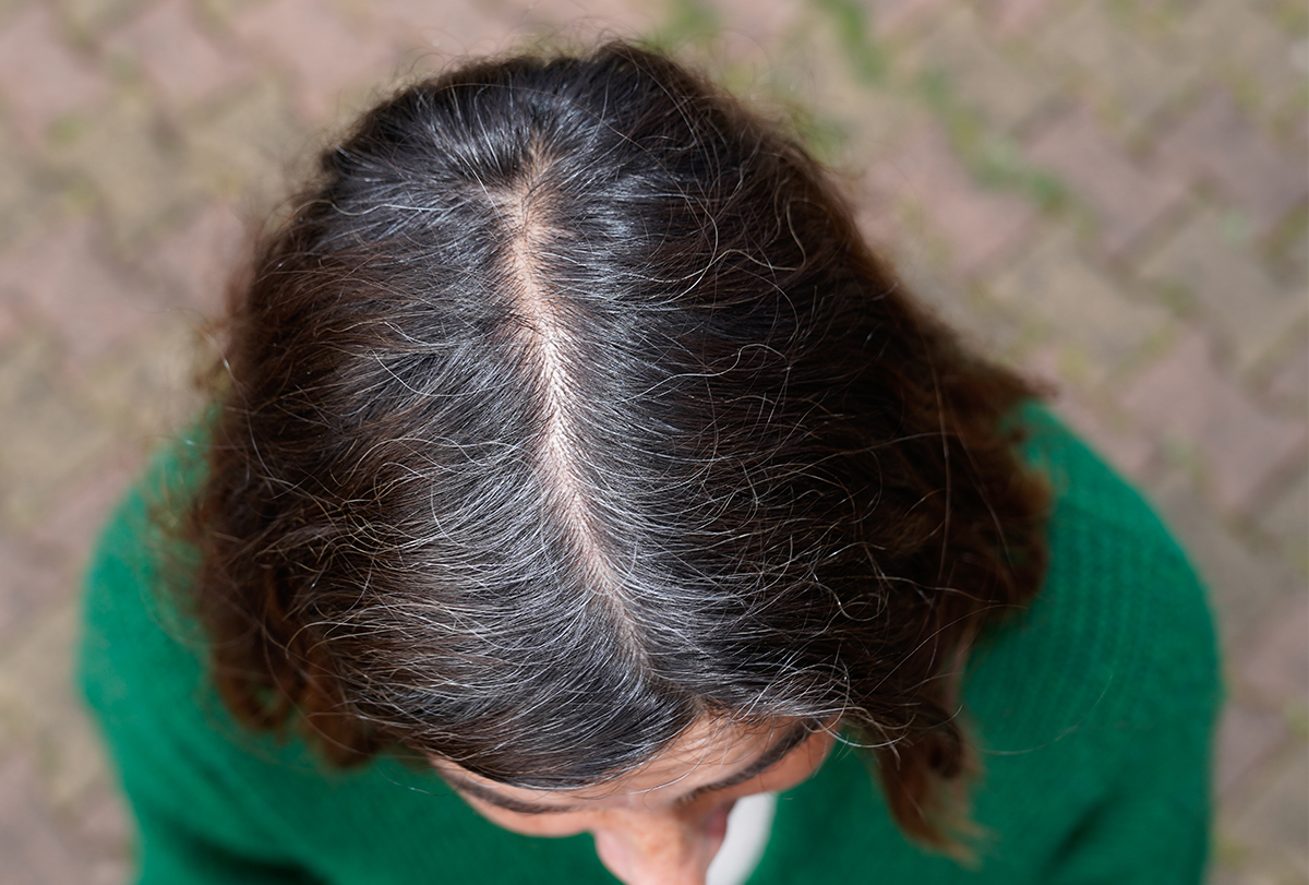simple ways to fix gray hair roots