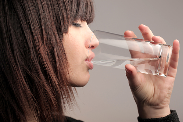 staying hydrated can help avoid skin dehydration