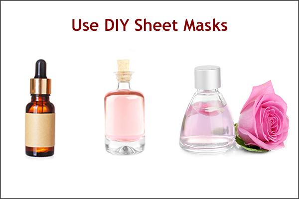 applying diy sheet masks can help unclog your skin pores