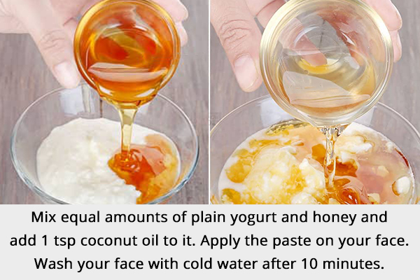 yogurt and honey mask can help treat crow's feet