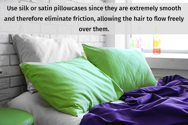 use silk or satin pillowcases to prevent skin dryness